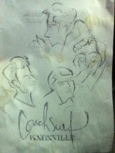 An excellent back-of-the-menu sketch by Carla.