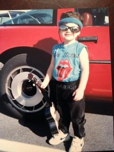 Headband, Corvette, and Stones Tee: Check, Check, and Check.